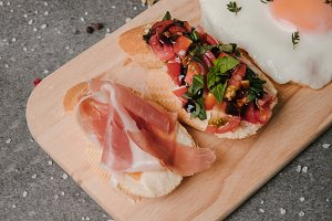 gourmet antipasto bruschetta and fri