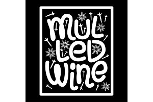 Cute Mulled Wine hand drawn