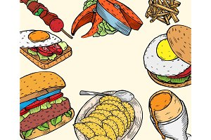 Gourmet Burgers and ingredients for