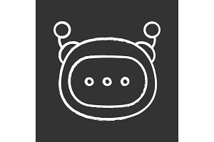Chatbot message chalk icon