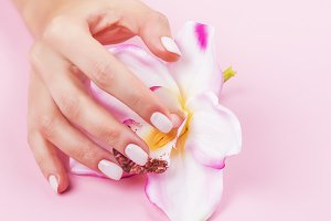 Beautiful pastel manicure