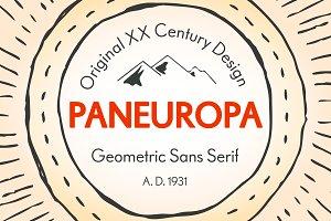 RP Paneuropa - retro geometric sans