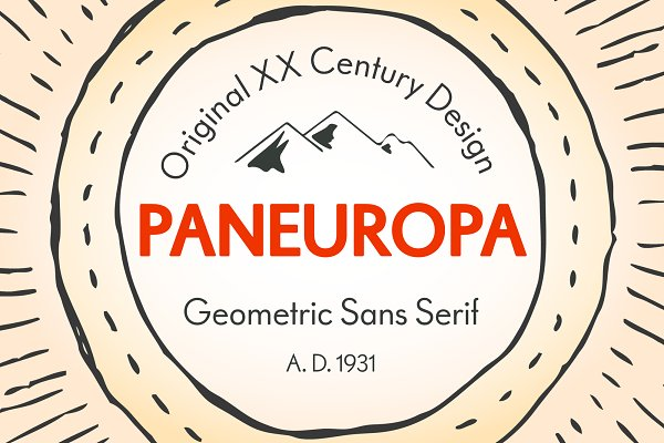 Fonts: Retro Paradise - RP Paneuropa - retro geometric sans