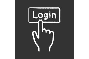 Login button click chalk icon