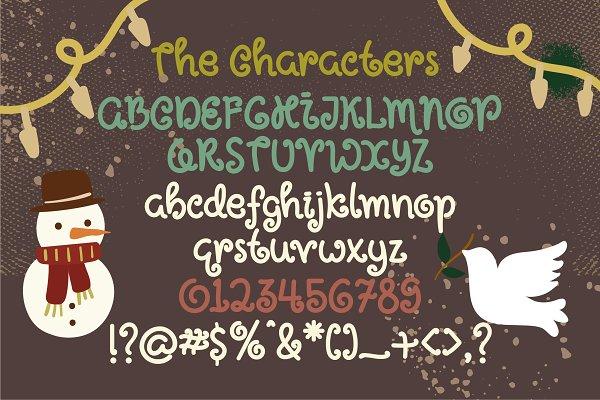 Script Fonts: caocastudios - Holly Jolly Font