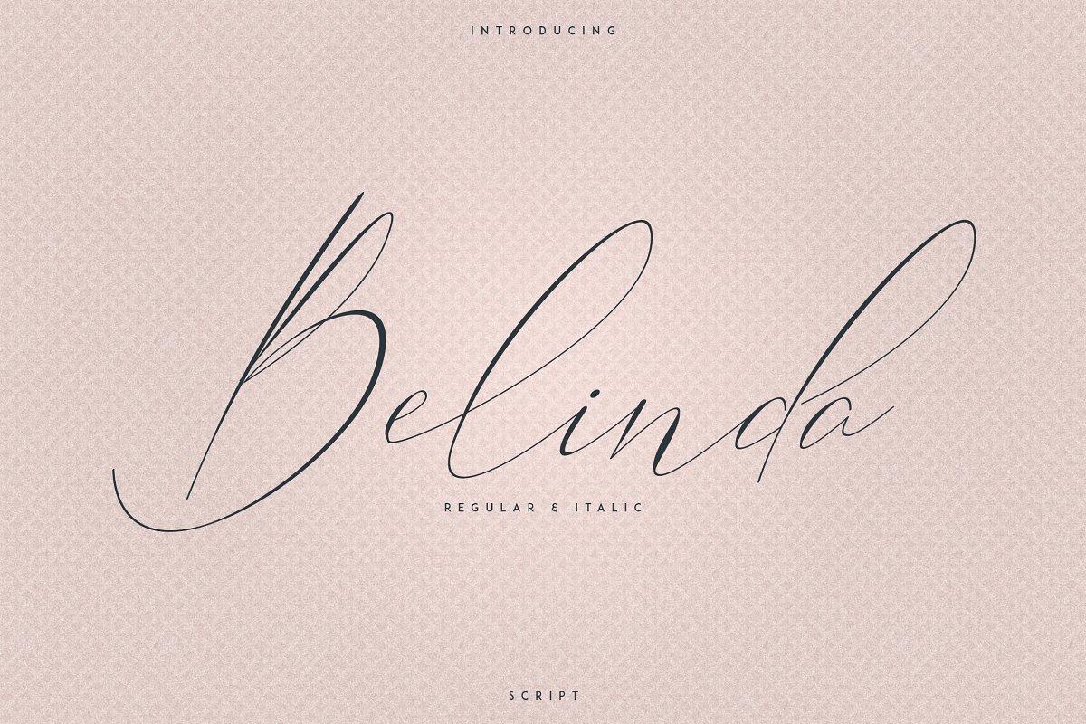 Belinda Script - Regular and Italic