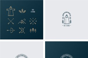 Trendy Retro Vintage Insignias