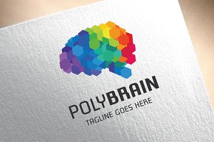 Polygon Brain Logo