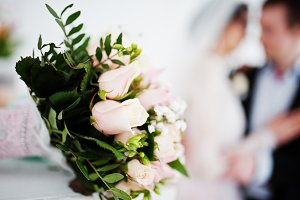 Close-up photo of a bouquet made out