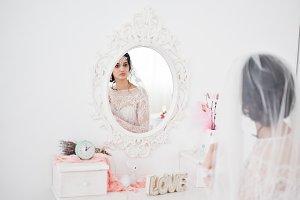 Portrait of a gorgeous bride sitting