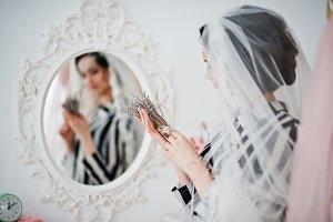 Portrait of a fantastic bride posing