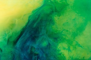 artistic background with green paint