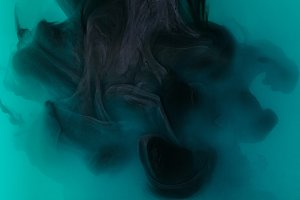 texture with black paint in turquois