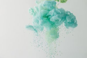 abstract background with turquoise p