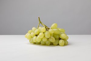 Close up view of pile of white grape