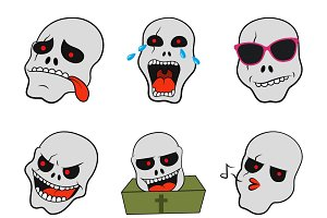 Illustration Of Skull Cartoon