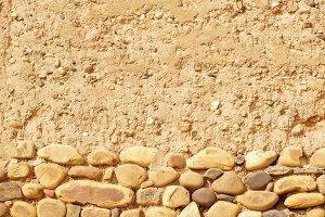 boulders in old mud house