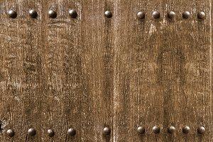 old rusty brown wooden door