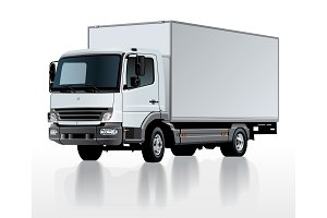 Vector delivery cargo truck template