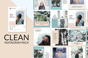 Clean New Instagram Banner Pack