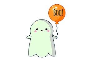 Cute kawaii Hallween ghost