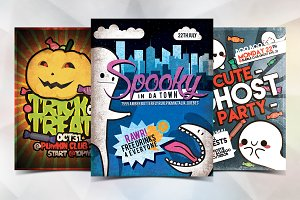Cute Halloween Flyer Bundle [9pcs]
