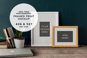 Rustic Teal Framed Prints Mockup #1