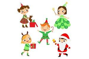 Christmas kids. New year children