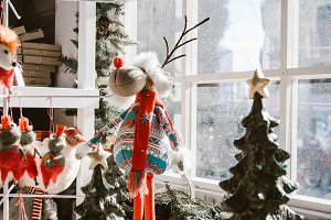 Christmas decorations, reindeer doll