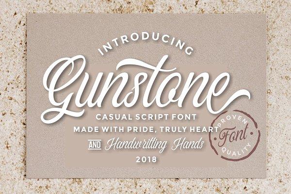 Script Fonts - Gunstone Script