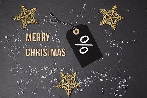 Merry Christmas black background