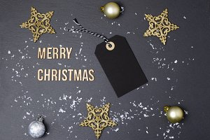 Merry Christmas black background