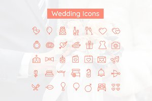 Wedding & Valentine Icon Set
