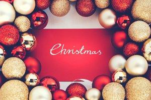 Silver CHRISTMAS writing and Christm