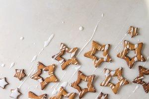 Christmas star shape sugar cookies