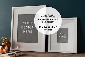 Rustic Teal Framed Prints Mockup #2