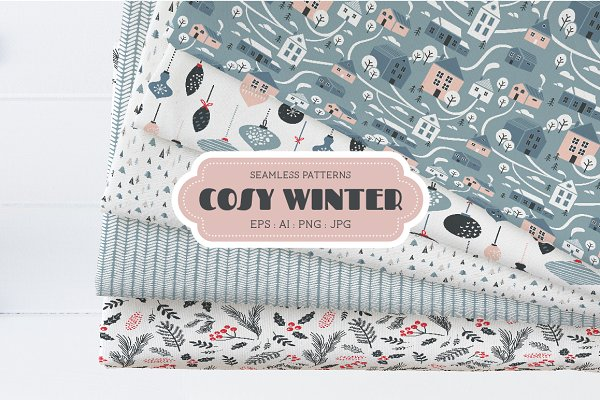 Illustrations and Illustration Products - Cosy Winter Patterns