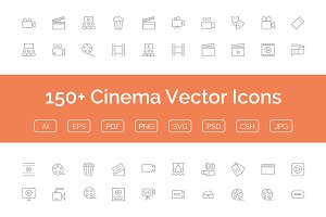 150+ Cinema Vector Icons