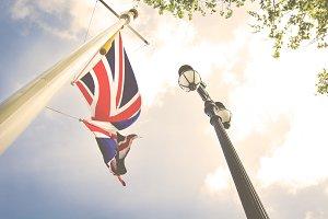 UK flag vintage