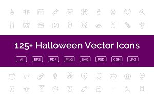 125+ Halloween Vector Icons