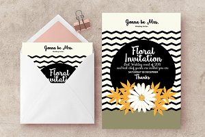 Floral Wedding Invite Templates
