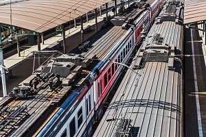 Roofs of trains