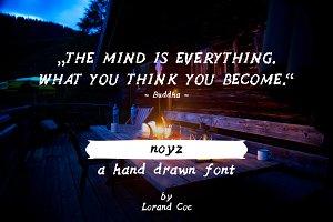 noyz - a Hand drawn Font