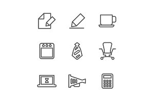Office outline icon