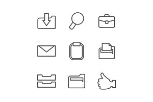 Office outline icon2