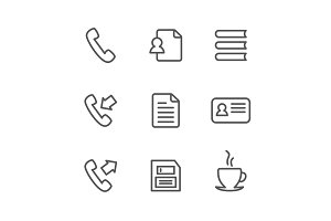Office outline icon3