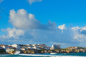 Ocean seashore town. Baleal Portugal