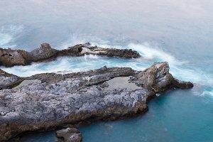 Tenerife island rocky coastline