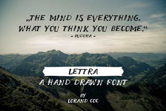 LETTRA - a Hand drawn Font