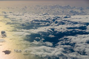 Clouds over Atlantic ocean